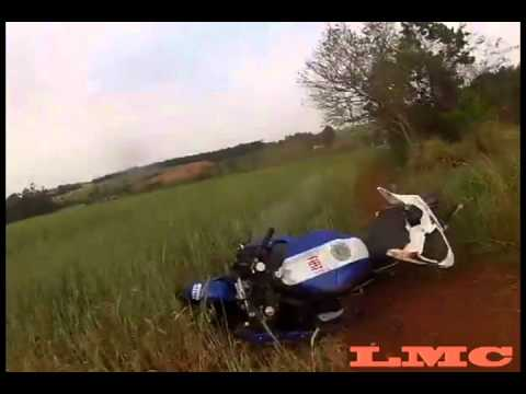 R1 Fiat Crash - Santo Antonio do Sudoeste - Acidente Yamaha YZF R1 Fiat