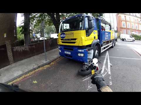 Episode 44. Lorry wipes Ducati Monster out...CRASH!