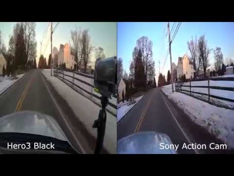 GoPro Hero3 Black vs Sony Action Cam VIDEO comparison