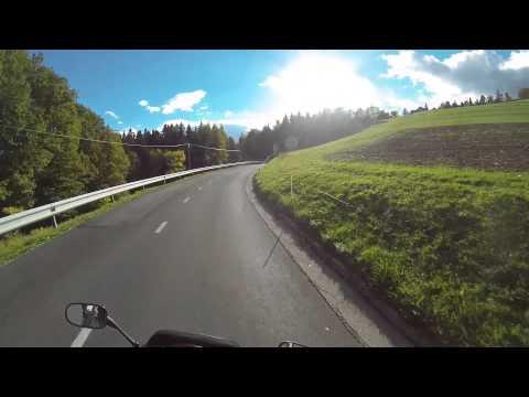 Motorcycle ride with GoPro Hero 3 Black helmet camera