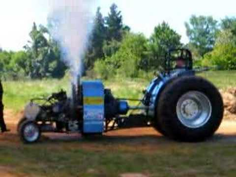 Radial engine on tractor