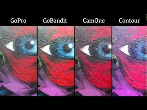GoPro HERO2 vs GoBandit LIVE vs CamOne Infinity vs Contour  || The BEST action cameras
