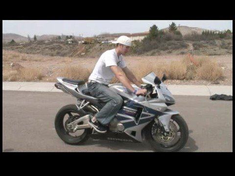 Motorcycle Riding Basics : Starting & Stopping a Motorcycle