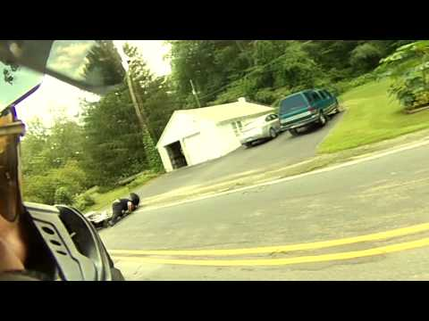 Double Motorcycle Crash Epic Ending