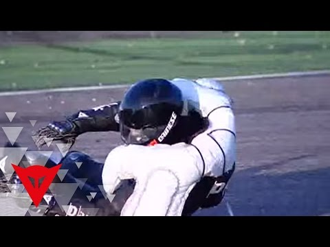 Dainese D-air® Racing airbag stunt test in Adria