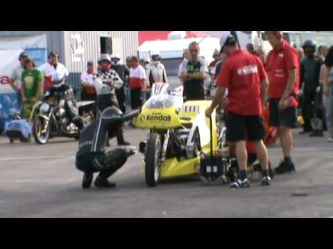 Peter Svensson Top Fuel Bike Making History  The first 5-second run outside the US!