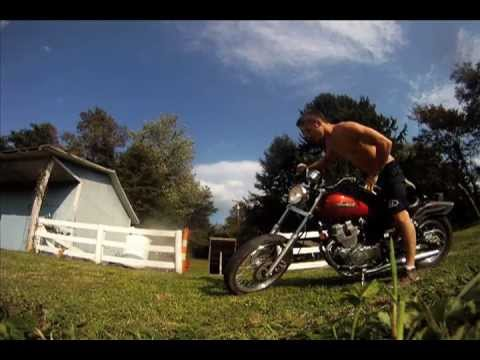 Jumping and Stunting on a 2005 HONDA REBEL 250