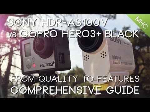 Sony HDR-AS100V vs GoPro Hero3  BLACK HD