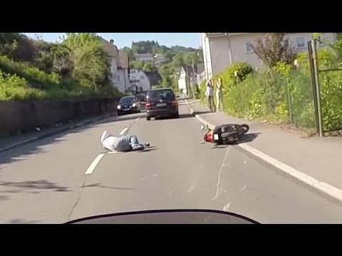 Scooter rider deliberately rammed off the road. Hit and run.
