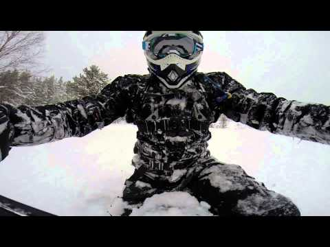 Winter Enduro on KTM 500 EXC - Snow Riding