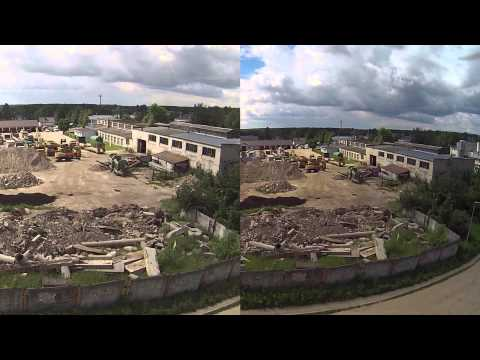 AEE S70 MagiCam VS GoPro Hero 3 - DJI Phantom 2   Zenmuse 3D flight comparison