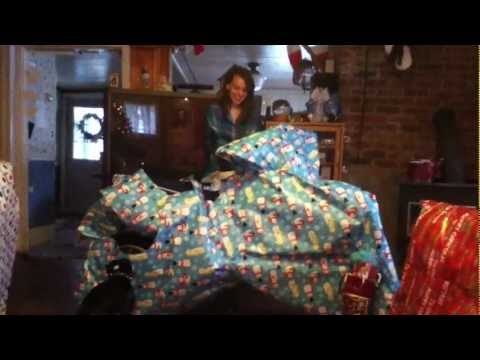 Opening dirt bikes Christmas morning...
