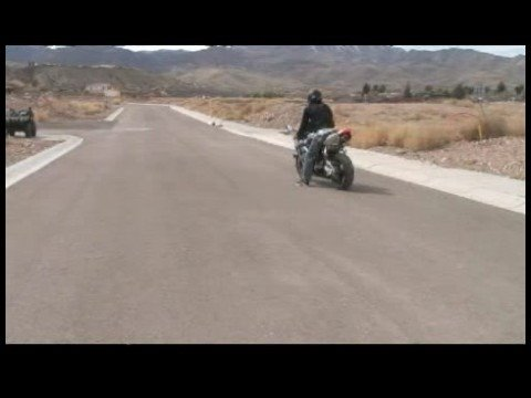 Motorcycle Riding Basics : Motorcycle Counter Sitting