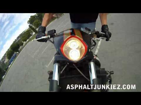 Motorcycle Stunts GO PRO TEST HD.  Throttle Trauma