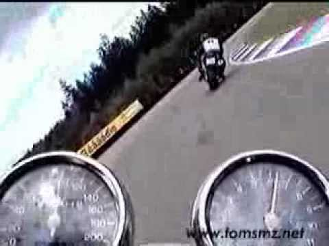 Race Track Brno with Yamaha XJ 600 N
