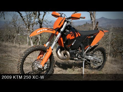 KTM 250 XC-W 2009 Off Road Dirt Bike Review