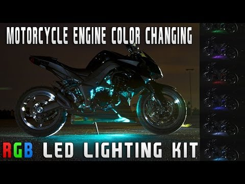 Motorcycle Engine Color Changing RGB LED Lighting Kit SPORT BIKE EDITION