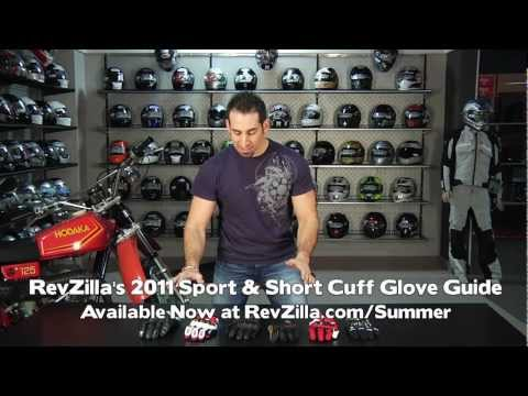 Motorcycle Sport & Short Cuff Glove Guide 2011 at RevZilla.com