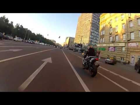 BMW HP4 and Suzuki GSX-R 1000. Косыгина-Ленинский-Садовое-Яуза