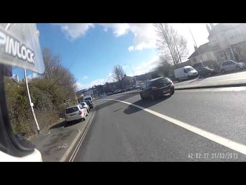 road rage Plymouth UK two guys attack motorcyclist WG12 CXR. incident starts at 4 mins
