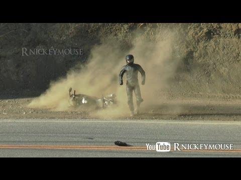 Panic Brake Lowside Motorcycle Crash
