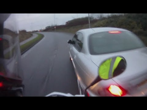 Car vs Motorcycle: Crash   Road Rage