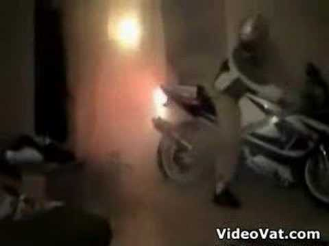 indoor Suzuki burnout