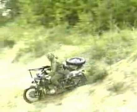 Ural Sidecar Motorcycle Military Demo