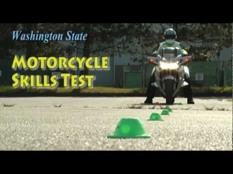 "Motorcycle Skills Test: Part 1 / ""Cone Weave & Normal Stop"""