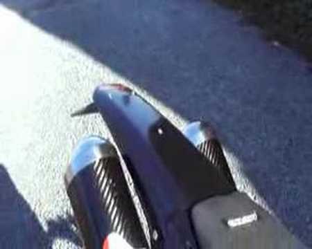 Honda XR650R twin pipe