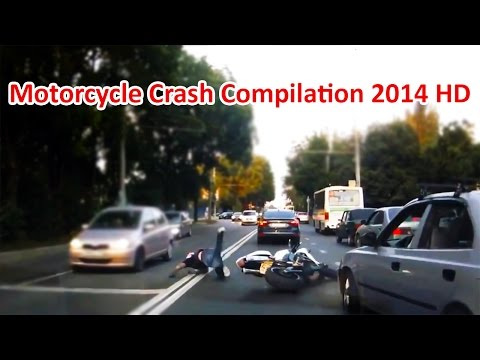 Motorcycle Crash Compilation & Road Rage 2014 HD