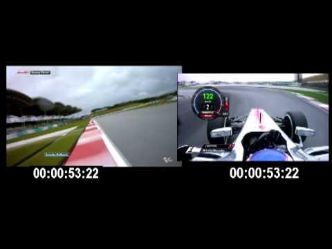 FORMULA 1 VS MOTO GP SEPANG 2013 JENSON BUTTON VS JORGE LORENZO