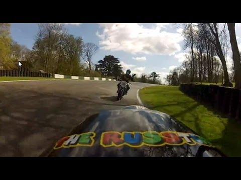 Funny instructor at Cadwell Park track day.