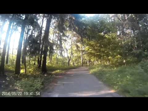 SJ4000 action cam test. Mounted on bike handlebar