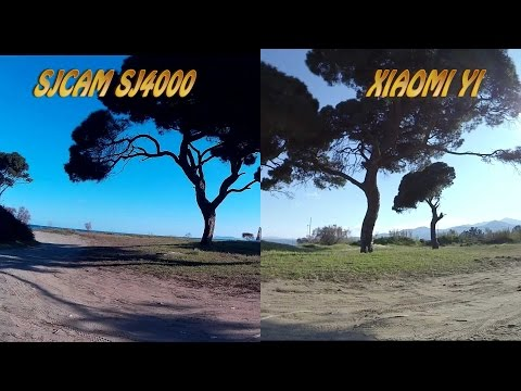 Xiaomi Yi vs SJ4000 side by side: sea, sand and seaside forest