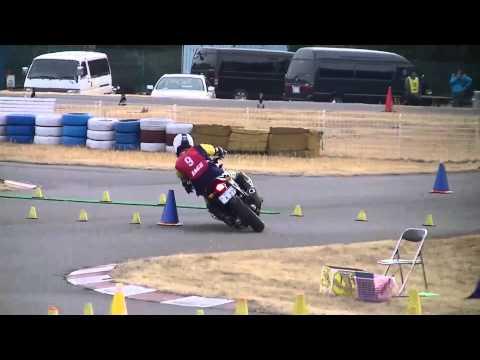 2012.01.06 moto gymkhana JAGE sakuta NC700 2ヒート