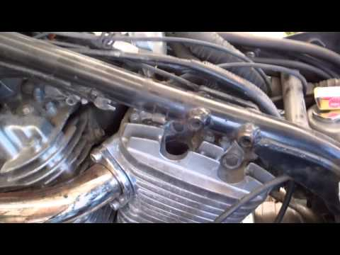 Replacing spark plugs in a 1990 Suzuki VX800