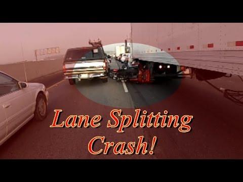 Lane Splitting Crash!