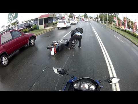 Al crashes his motorbike