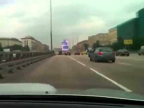 Stupid driver crashes into traffic jam in Russia.