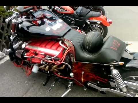 12 Zylinder Aston Martin MOTORBIKE...!!!! SELF-MADE...!!!