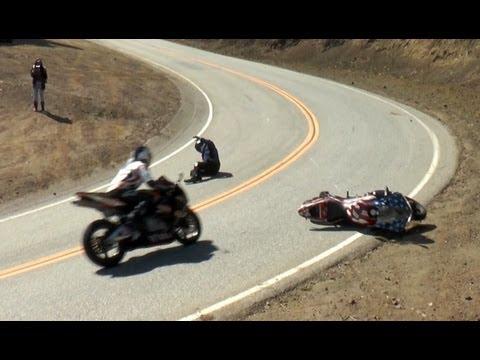 Stars & Stripes Motorcycle Crash Feb 23, 2013