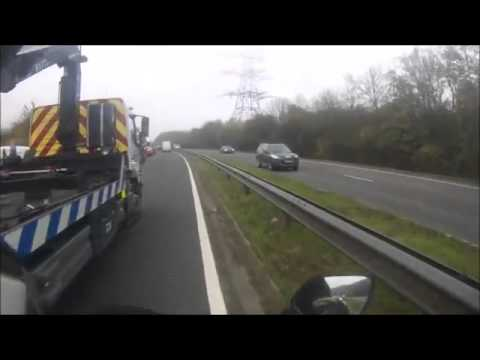 BJG SOLUTIONS RECOVERY ESSEX PURPOSELY HITTING MOTORCYCLE