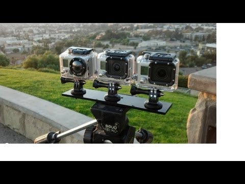 GoPro HD Hero3 Black vs. Silver vs. Hero2 Visual Comparison