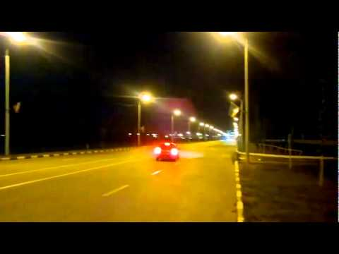 Brutal accident motorcycle VS car