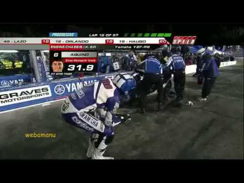 AMA Daytona 200 2010 Tommy Aquino failed pit stop.wmv