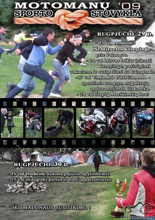 Motomanų Sporto Stovykla 2009! Rugpjūčio 29-30 dienomis