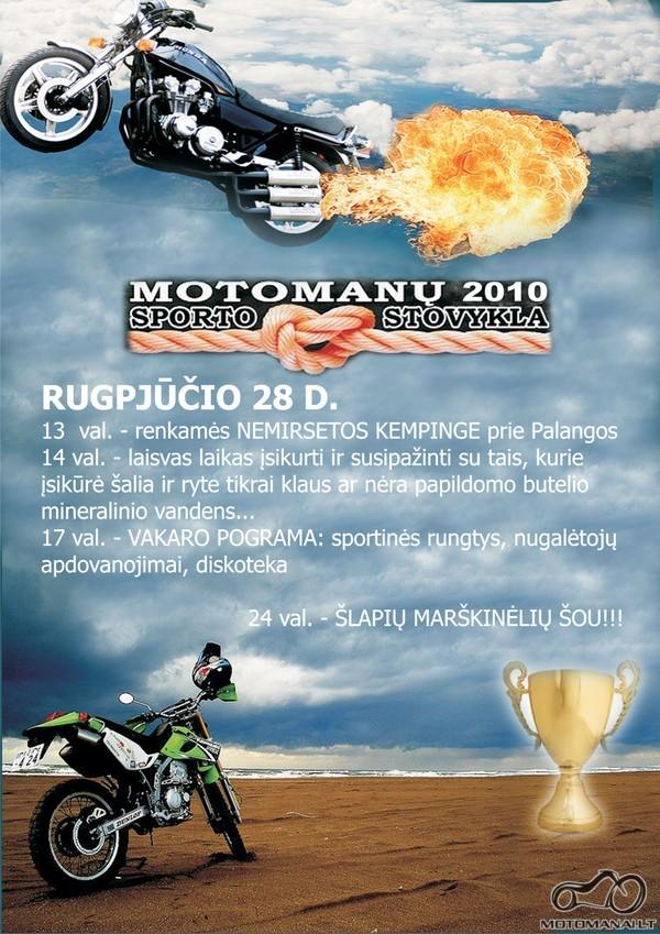 Motomanų sporto stovykla Nemirsetoje 2010