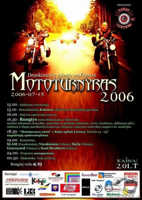 Mototurnyras 06, liepos 15-16 d., Druskininkuose