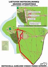 2016 motociklų judėjimo vingio parke schema
